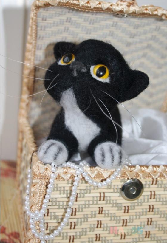 Купить котенок из войлока, Коты, Зверята, Куклы и игрушки ручной работы. Мастер Светлана Петрова (Svetlana207) . войлок