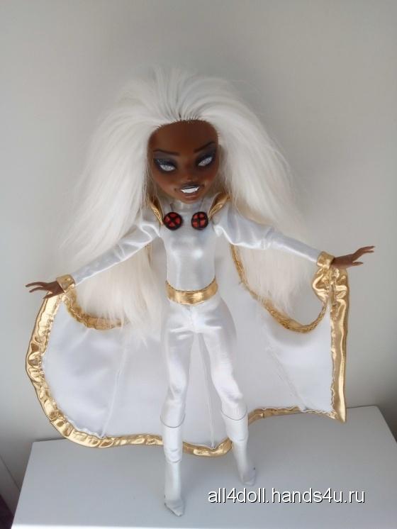 Купить кукла ООАК Марвел Шторм на базе Клодии Монстер Хай, Куклы и игрушки ручной работы. Мастер Ольга Гагарина (ALL4DOLL) .