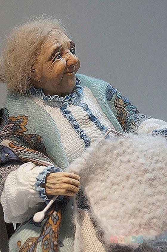 Купить Авторская кукла Бабушка, Полимерная глина, Коллекционные куклы, Куклы и игрушки ручной работы. Мастер Ольга Поступаева (Olga1922) . интерьерная кукла