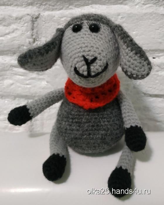 Купить Вязаная овечка, Другие животные, Зверята, Куклы и игрушки ручной работы. Мастер Ольга Ершова (olka25) . вязаная игрушка