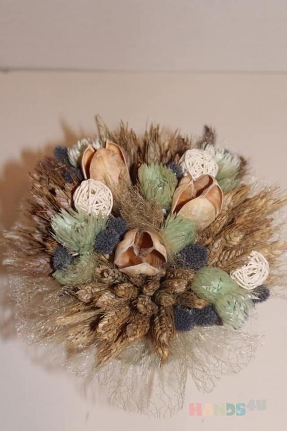 Купить Композиция из сухоцветов , Сухоцветы, Интерьерные композиции, Цветы и флористика ручной работы. Мастер Анна Свистунова (Sdelanrukami) . сухоцветы