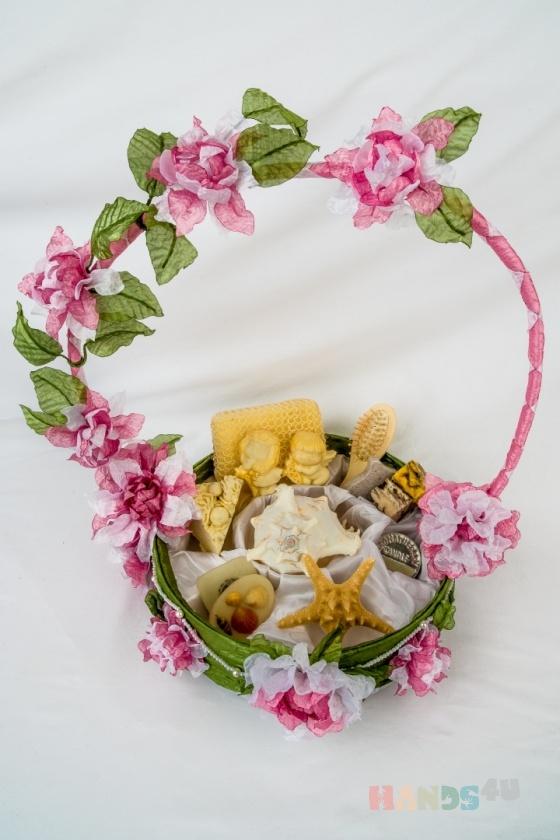 Купить Корзина цветочнаяВесна, Персональные подарки, Подарки к праздникам ручной работы. Мастер Анна Белая (Anyta8686) . корзина