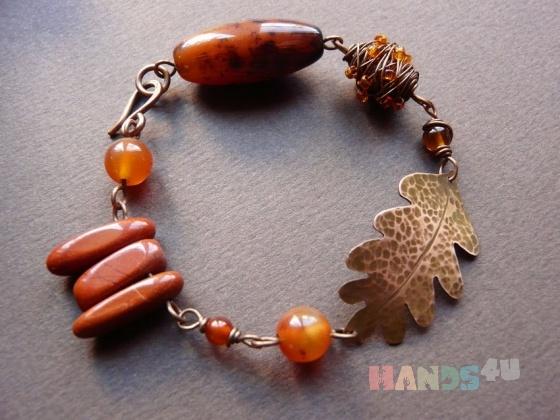 Купить браслет Медовый лес , Смешанная техника, Браслеты, Украшения ручной работы. Мастер   (lylyfi) .