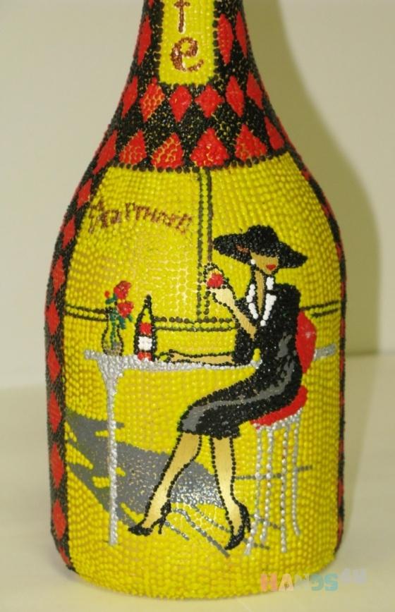 Купить подарочная бутылка В ПАРИЖСКОМ КАФЕ, Подарочные наборы, Сувениры и подарки ручной работы. Мастер Андрей Григ (AndreyGrig) . бутылка