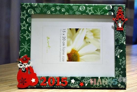 Купить фоторамка, Новый год, Подарки к праздникам ручной работы. Мастер   (ushakova) . фотоаксессуары