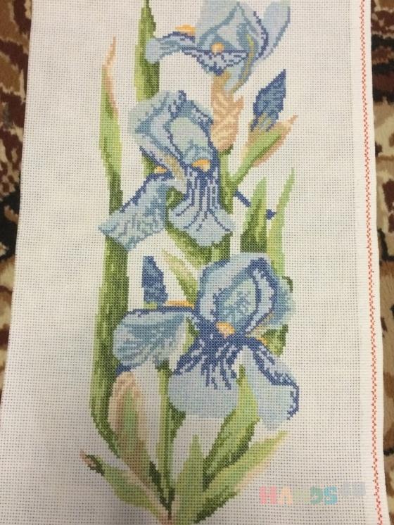 Купить Ирисы, Картины цветов, Картины и панно ручной работы. Мастер Марина Журавлева (-Marina-) .