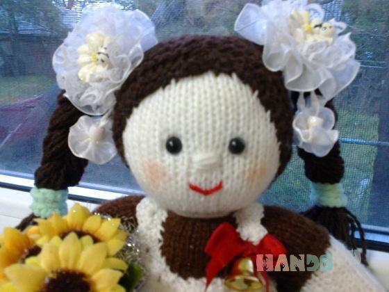 Купить Вязаная куколка Первоклашка, Вязаные, Человечки, Куклы и игрушки ручной работы. Мастер Светлана Крючкова (svetlanasv) . первое сентября