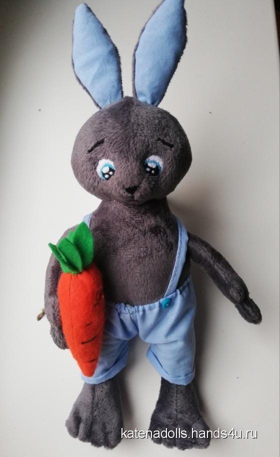 Купить Плюшевый заяц, Зайцы, Зверята, Куклы и игрушки ручной работы. Мастер Екатерина Горбунова (Katenadolls) . авторский подарок ручной  работы