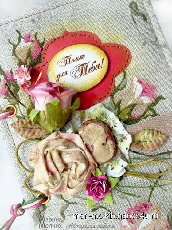 Купить Блокнот - Камея с розами, Блокноты, Канцелярские товары ручной работы. Мастер Марина Мелких (mari-melkih) . скрапбукинг