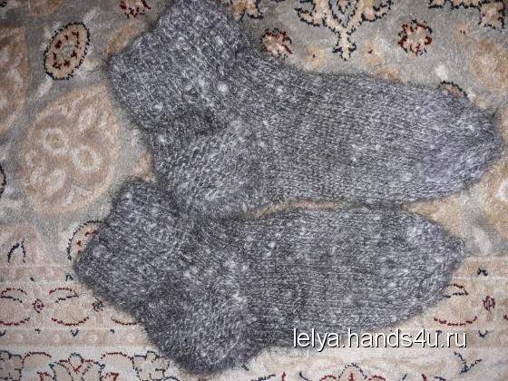 Купить носки из козьего пуха, Обувь ручной работы. Мастер olga evstifeeva (Lelya) . козий пух