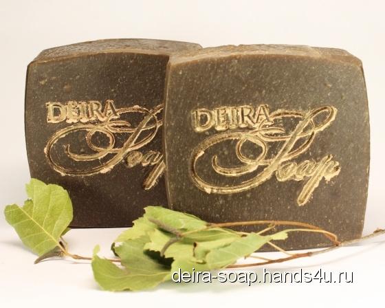 Купить натуральное мыло с нуля ДЕГТЯРНОЕ (для лица и тела), Травяное, Мыло, Косметика ручной работы. Мастер Лидия Паршунина (deira-Soap) .