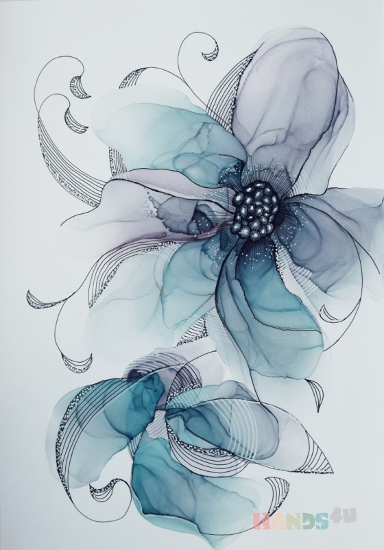 Купить Голубые цветы, Для дома и интерьера ручной работы. Мастер Юлия Савинова (Julia73) . голубые цветы