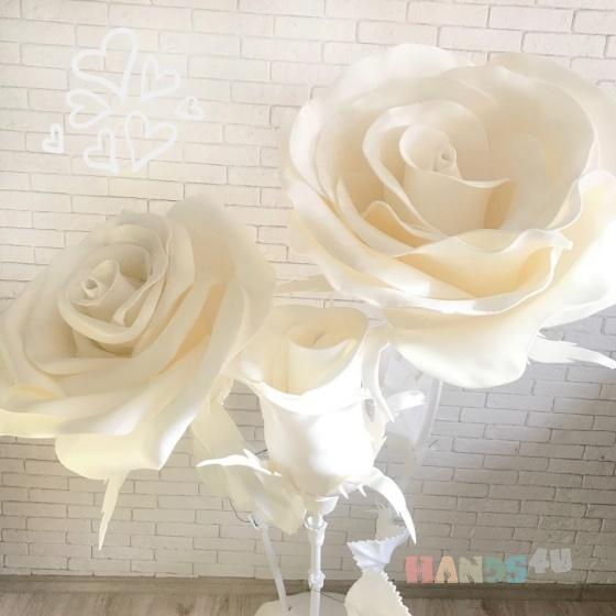 Купить Белые цветы и композиции из изолона, Персональные подарки, Подарки к праздникам ручной работы. Мастер Дарья Архипова (rostovoy) . в подарок