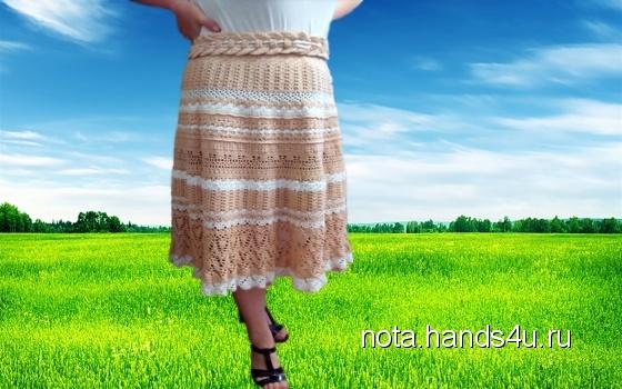 Купить Юбка крючкомАжурная, Вязаные, Юбки, Одежда ручной работы. Мастер Natalya Sedova (Nota) .