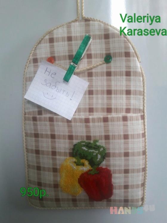 Купить Кармашек перчики, Элементы интерьера, Для дома и интерьера ручной работы. Мастер Valeriya Karaseva (15valeriya08) . hand made сувенир