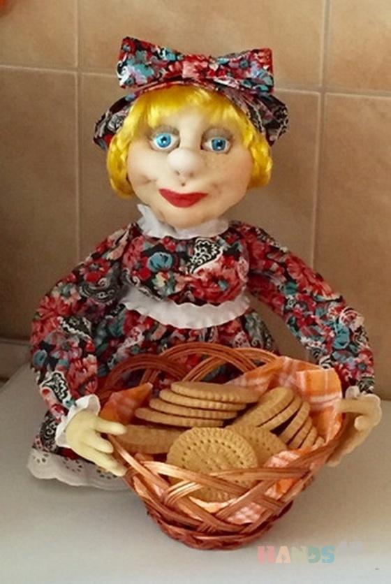 Купить Кукла-конфетница или сухарница, Хлебницы, Кухня, Для дома и интерьера ручной работы. Мастер Наталья Кузнецова (anion) . интерьерная кукла