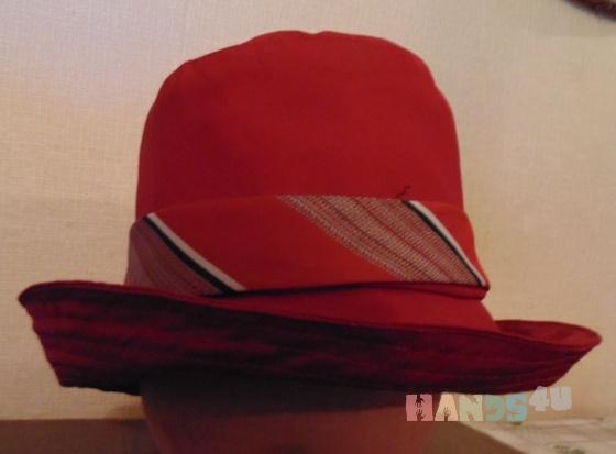 Купить Шляпа темно-красная с полями, Шляпы, Головные уборы, Аксессуары ручной работы. Мастер Галина Клименко-Зиновьева (Galina-Iv) . шляпа с полями