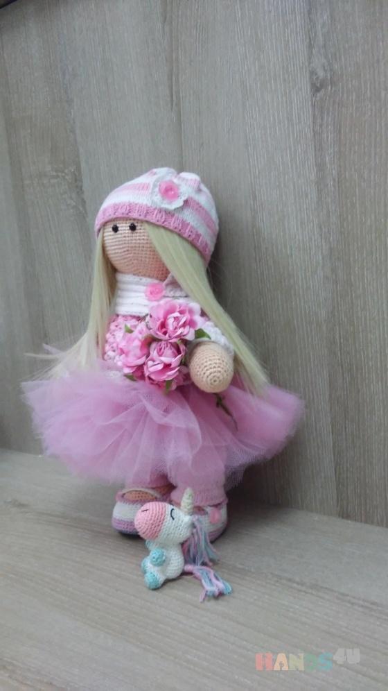 Купить Куколка Полина с единорожком, Куклы и игрушки ручной работы. Мастер Марина Федорина (-Fedorina8) .