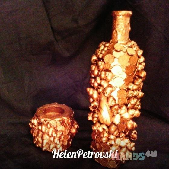 Купить декоративная бутылка Денежный магнит, Персональные подарки, Подарки к праздникам ручной работы. Мастер Helen Petrova (helen79) . бутылка в подарок