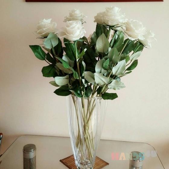Купить Розы из полимерной глины, Элементы интерьера, Для дома и интерьера ручной работы. Мастер Оксана Пархоменко (ksuna) . букет белых роз