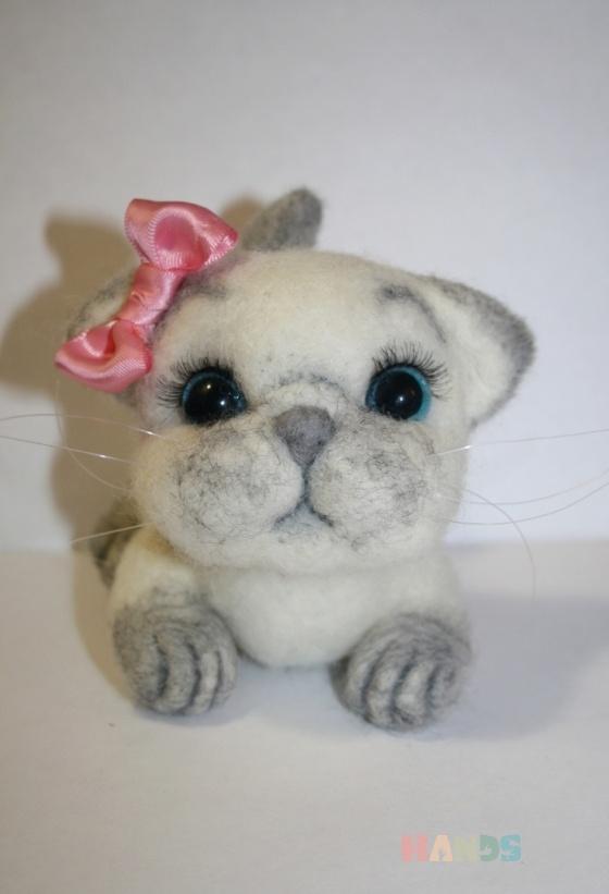 Купить милый сиамский котенок, Другие животные, Зверята, Куклы и игрушки ручной работы. Мастер Светлана Петрова (Svetlana207) . кот