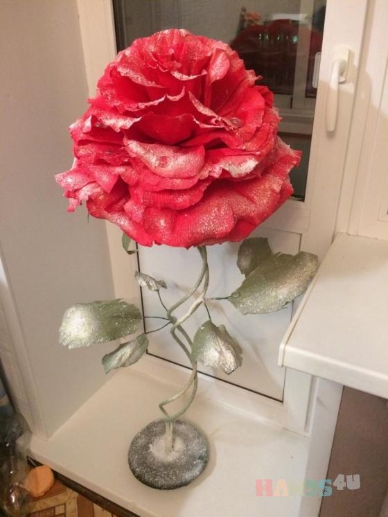 Купить Цветок гигант, Смешанная техника, Цветы, Цветы и флористика ручной работы. Мастер Татьяна Гостева (tanyagosteva) . бумага гофрированная