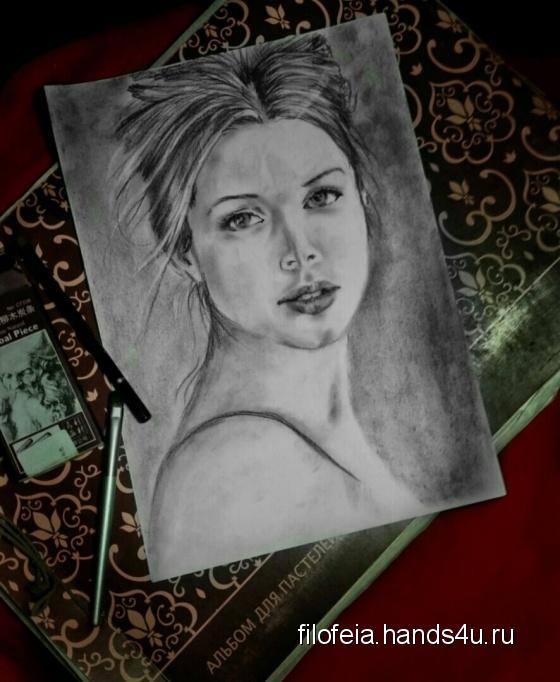 Купить  выполняем на заказ портрет карандашом, Люди, Картины и панно ручной работы. Мастер lilia onea (filofeia) .