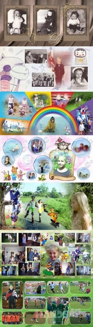 Купить Примеры разворотов Детских фотокниг , Печатная продукция, Фото и видео услуги ручной работы. Мастер  Идеи и Дизайн (idei-design) .