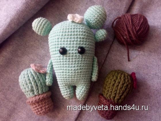 Купить Кактусята, Амигуруми, Миниатюра, Куклы и игрушки ручной работы. Мастер Вета  (MadeByVeta) .