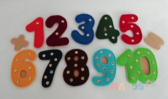 Купить Цифры из фетра , Развивающие игрушки, Куклы и игрушки ручной работы. Мастер Татьяна Солдатова (Tatyana0819) .