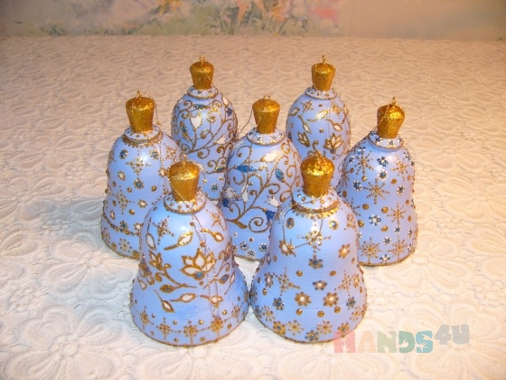 Купить Голубые колокольчики, Колокольчики, Сувениры и подарки ручной работы. Мастер Инна Лебединская (InnaLe) . подарок на новый год