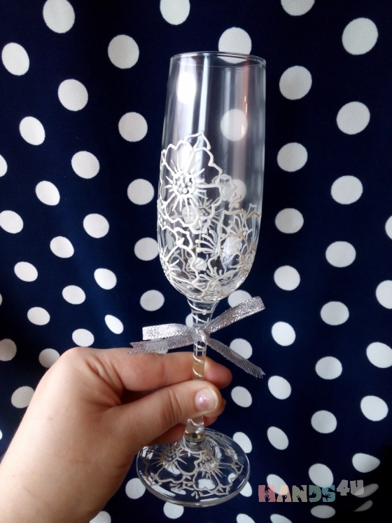 Купить Свадебные бокалы, Бокалы, стаканы, Посуда ручной работы. Мастер Анна Мотева (Dgokonda) . свадьба