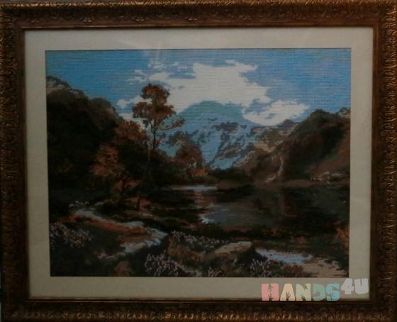 Купить Весна в горах, Картины и панно ручной работы. Мастер   (marina598) . вышитые картины