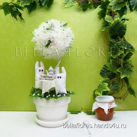 Купить Топиарий столик для двоих, Топиарии, Цветы и флористика ручной работы. Мастер Вероника Чередник (bellaflores) .