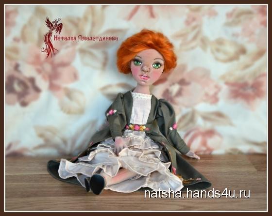 Купить Текстильная куколка Анна, Текстильные, Коллекционные куклы, Куклы и игрушки ручной работы. Мастер Наталья Ямалетдинова (Natsha) . авторская кукла