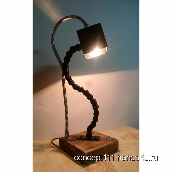 Купить Лампа настольная, Лампы, Освещение, Для дома и интерьера ручной работы. Мастер Александр  (concept111) . лофт декор