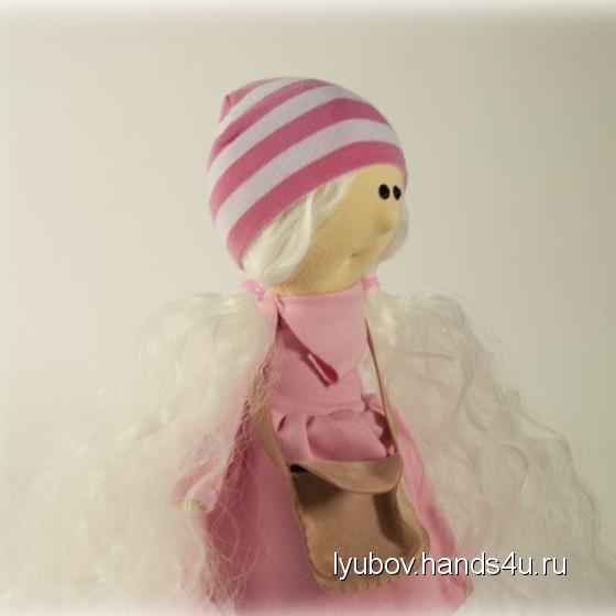 Купить Блондиночка в розовом, Текстильные, Человечки, Куклы и игрушки ручной работы. Мастер Любовь Свечина (Lyubov) . кукла
