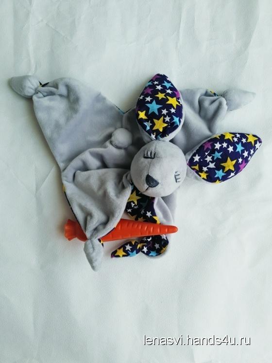 Купить Комфортер Сплюшка зайка Подушка зайка, Зайцы, Зверята, Куклы и игрушки ручной работы. Мастер Елена Сви (lenasvi) .