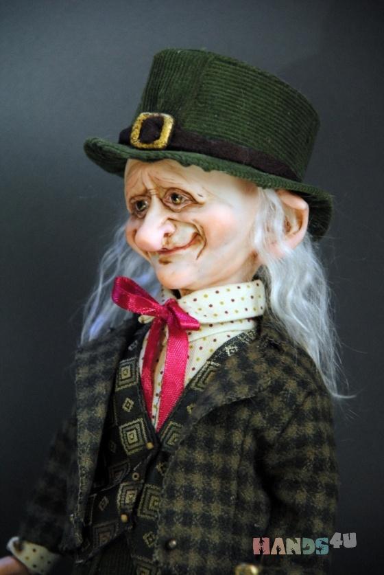 Купить Авторская кукла Гном Лемминкэйнен, Смешанная техника, Коллекционные куклы, Куклы и игрушки ручной работы. Мастер Елена Коноплина (Dizart) . авторская кукла гном