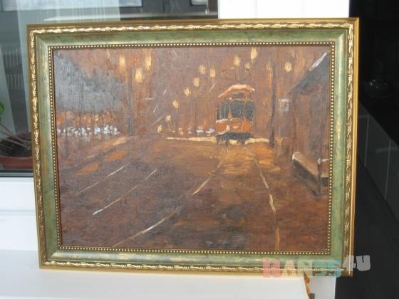 Купить Португальский трамвай, Город, Картины и панно ручной работы. Мастер Dinara Makina (Dinara) .