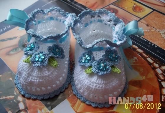 Купить пинетки, Обувь ручной работы. Мастер Лилия Шовкун (Lilia1983) .