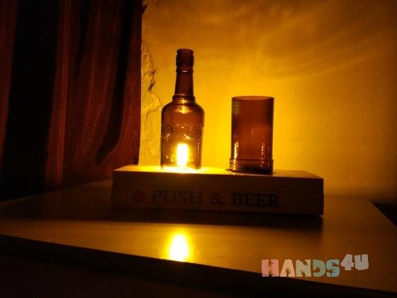 Купить Лампа для любителей пенного напитка, Светильники, Освещение, Для дома и интерьера ручной работы. Мастер Татьяна С (LightHome) . светильник настольный