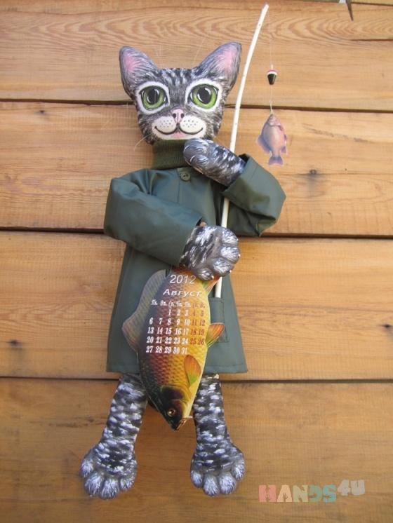 Купить Кот-рыболов, Коты, Зверята, Куклы и игрушки ручной работы. Мастер Любовь Зыбина (Zyta) . кот-рыболов