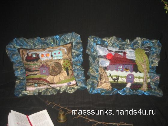 Купить Комплект подушек Лето в деревне, Шитые, Подушки, Текстиль, ковры, Для дома и интерьера ручной работы. Мастер Мария Медведева (masssunka) .