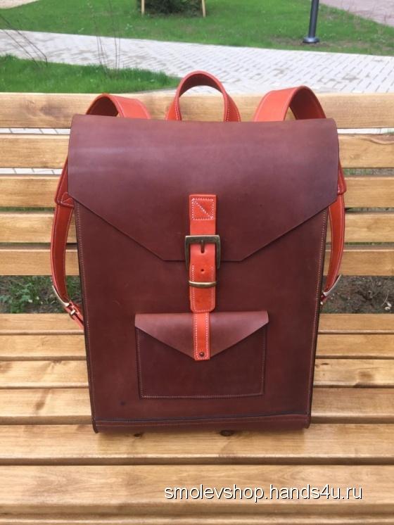 Купить Мужской кожаный рюкзак, Рюкзаки, Сумки и аксессуары ручной работы. Мастер Игорь S (SmolevShop) . кожаный рюкзак