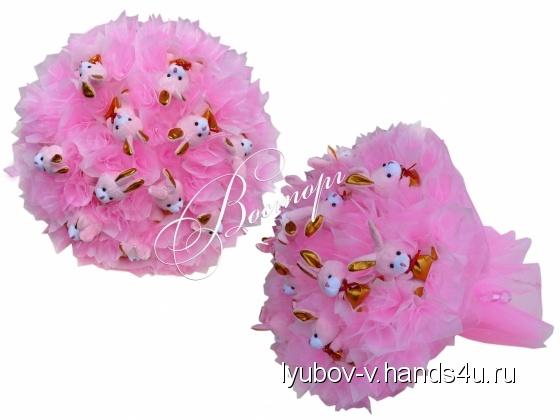 Купить Букеты из мягких игрушек, Открытки ручной работы. Мастер Любовь В. (Lyubov-v) . букеты из мягких игрушек