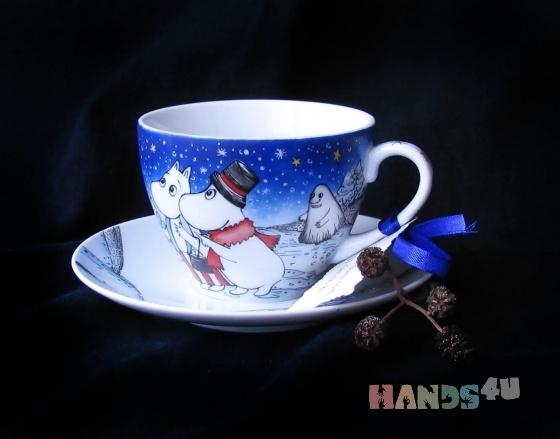 Купить Чайная пара Муми-Тролли, Кружки и чашки, Посуда ручной работы. Мастер Екатерина Писаревская (Pisari) . чайчайная пара