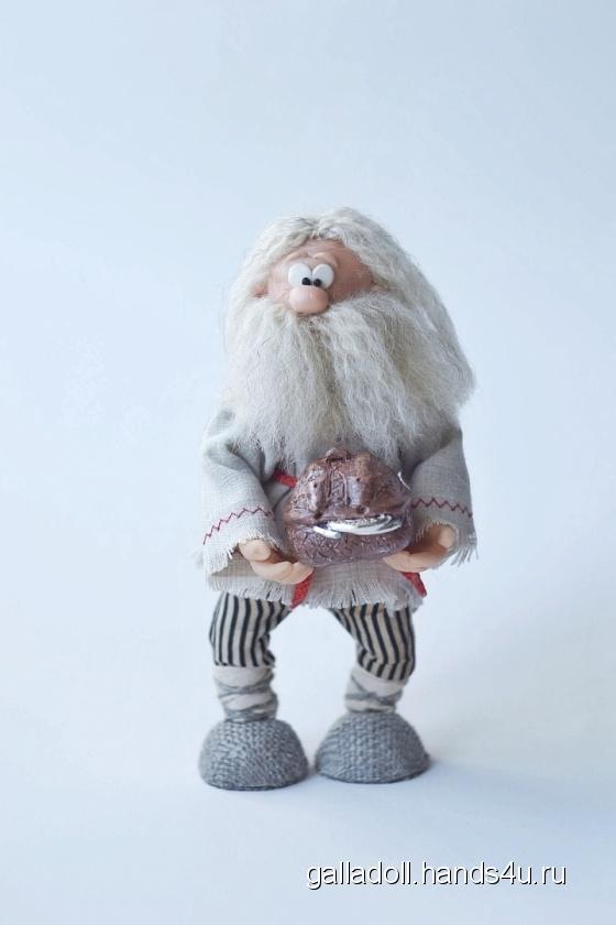 Купить Сувенирная кукла-оберег Домовой Никифор, Народные куклы, Куклы и игрушки ручной работы. Мастер Галина Михович (GallaDoll) .
