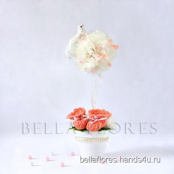 Купить Топиарий в ожидании чуда, Топиарии, Цветы и флористика ручной работы. Мастер Вероника Чередник (bellaflores) .