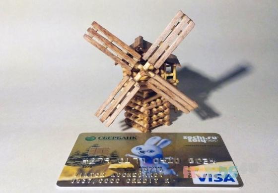 Купить Миниатюрная ветряная мельница, Сувениры, Русский стиль ручной работы. Мастер Виктор  (Vikont1970) . дерево